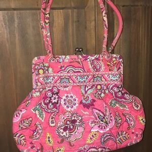 Pink Vera Bradley purse.